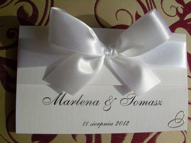 Zaproszenia ślubne Wzór Ab 4 Zaproszenia ślubne Zaproszenia Na