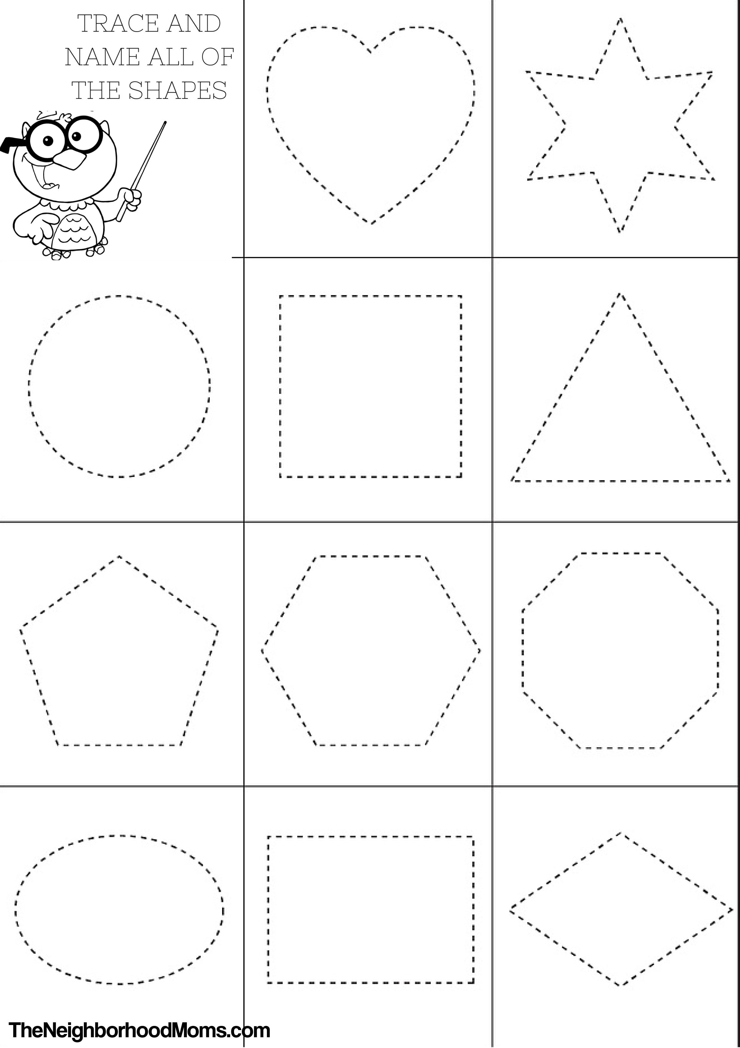 Shapes Coloring Pages Printable  Shapes worksheets, Shape