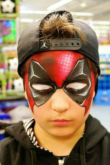 Dead Pool Full Face Mask Face Painting Heroes Deadpool Face