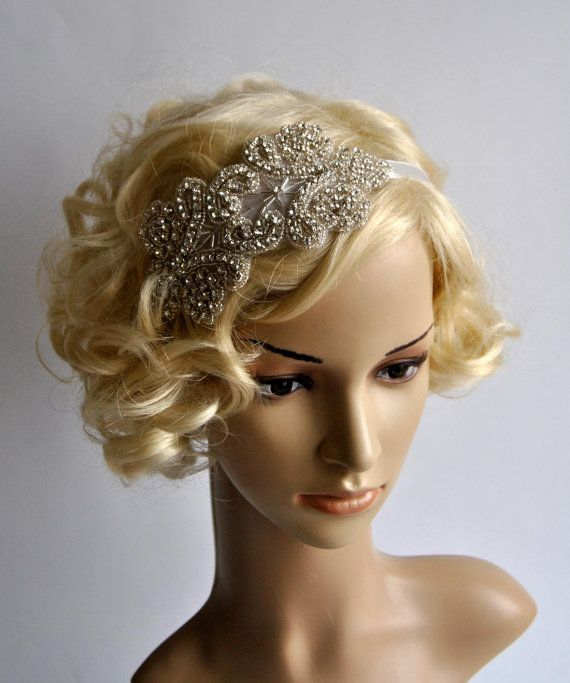 Ready to ship Crystal Applique Headband Beautiful Vintage Style flapper  headband. Perfect for a vintage inspired bride 629988bc800