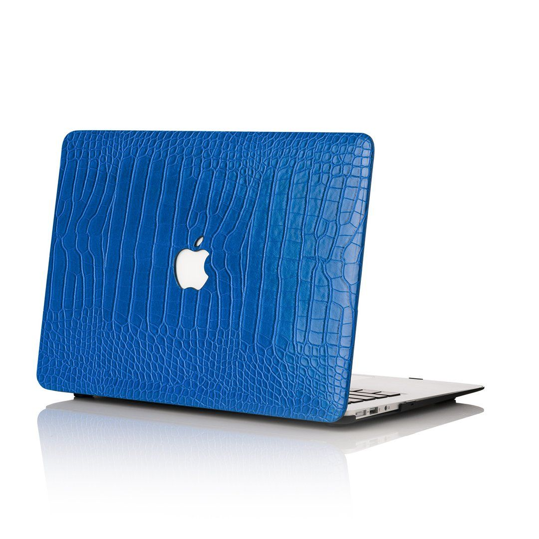 Cobalt Faux Crocodile MacBook Case Macbook case, Apple