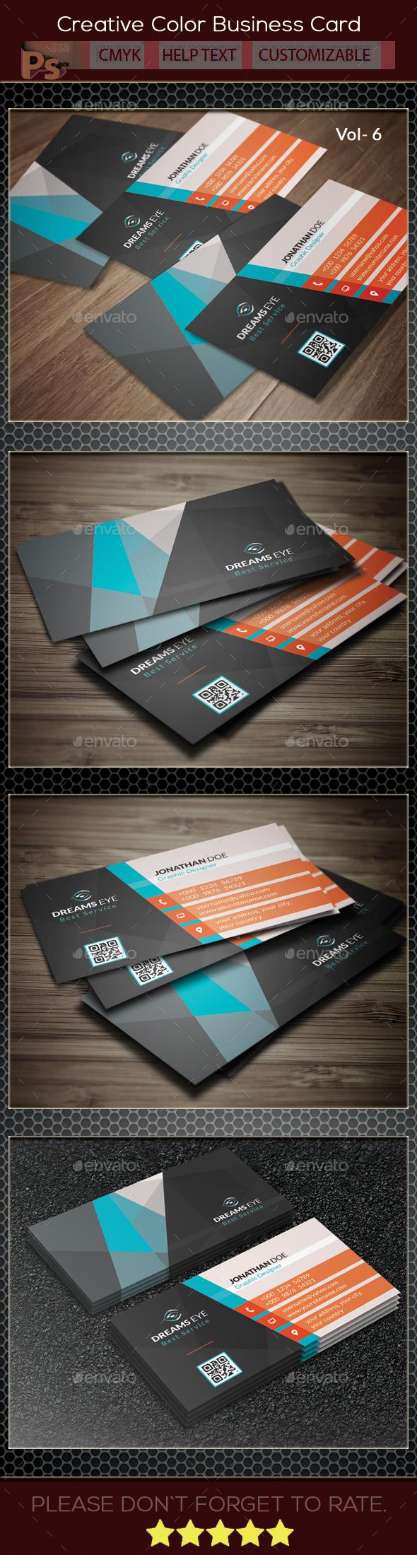 Creative Color Business Card V.6