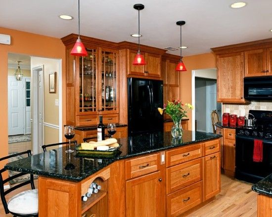 Attractive Gorgeous Kitchens With Black Appliances Design And Ideas