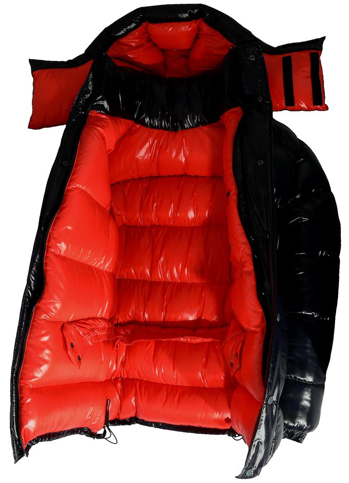 Daunenshop Parkasite - down parka Big Parka red inner big | into ...