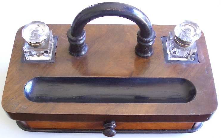 Silver Plated Travelling Inkwell