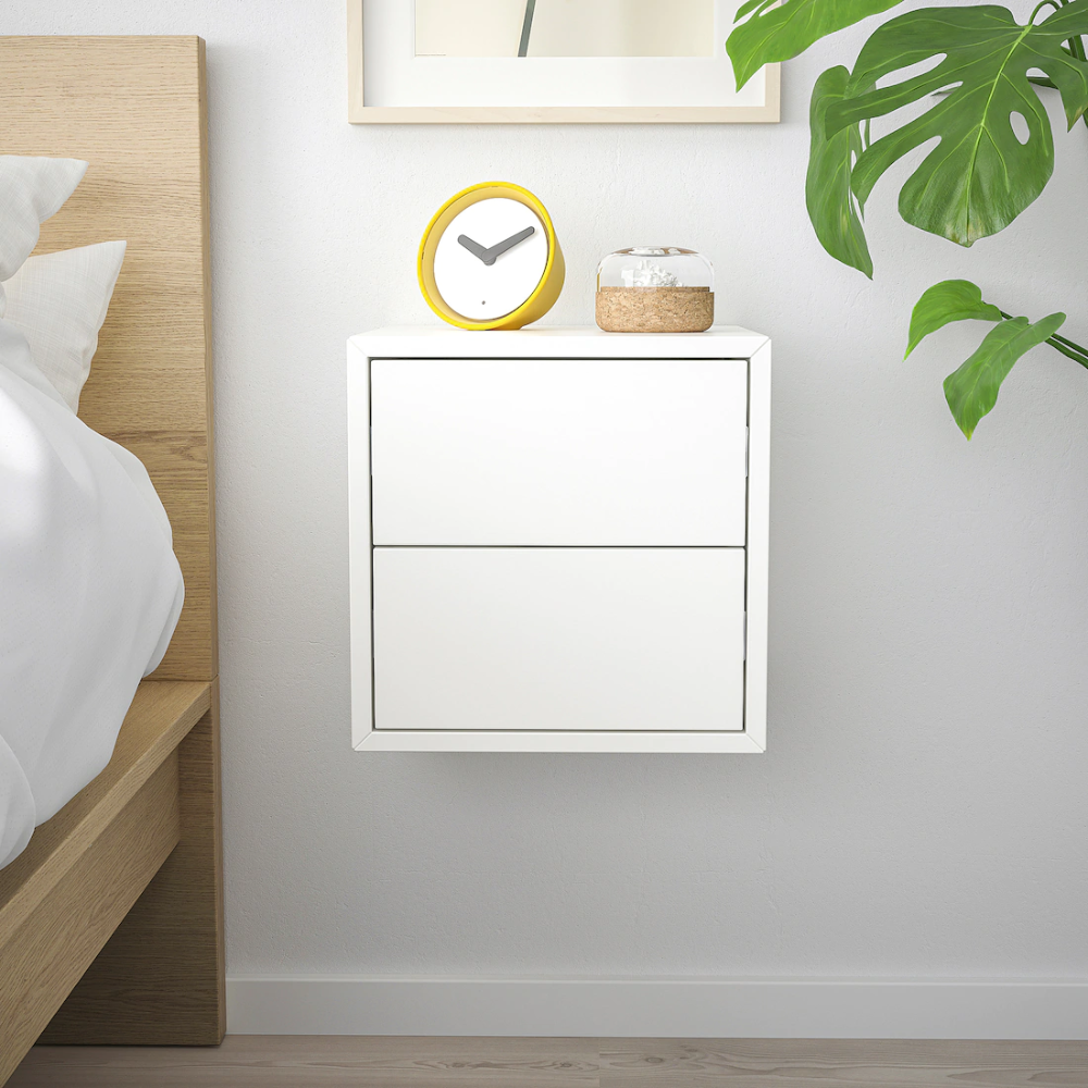 Eket Wall Cabinet With 2 Drawers White Ikea In 2020 Eket Ikea Eket Wall Cabinet