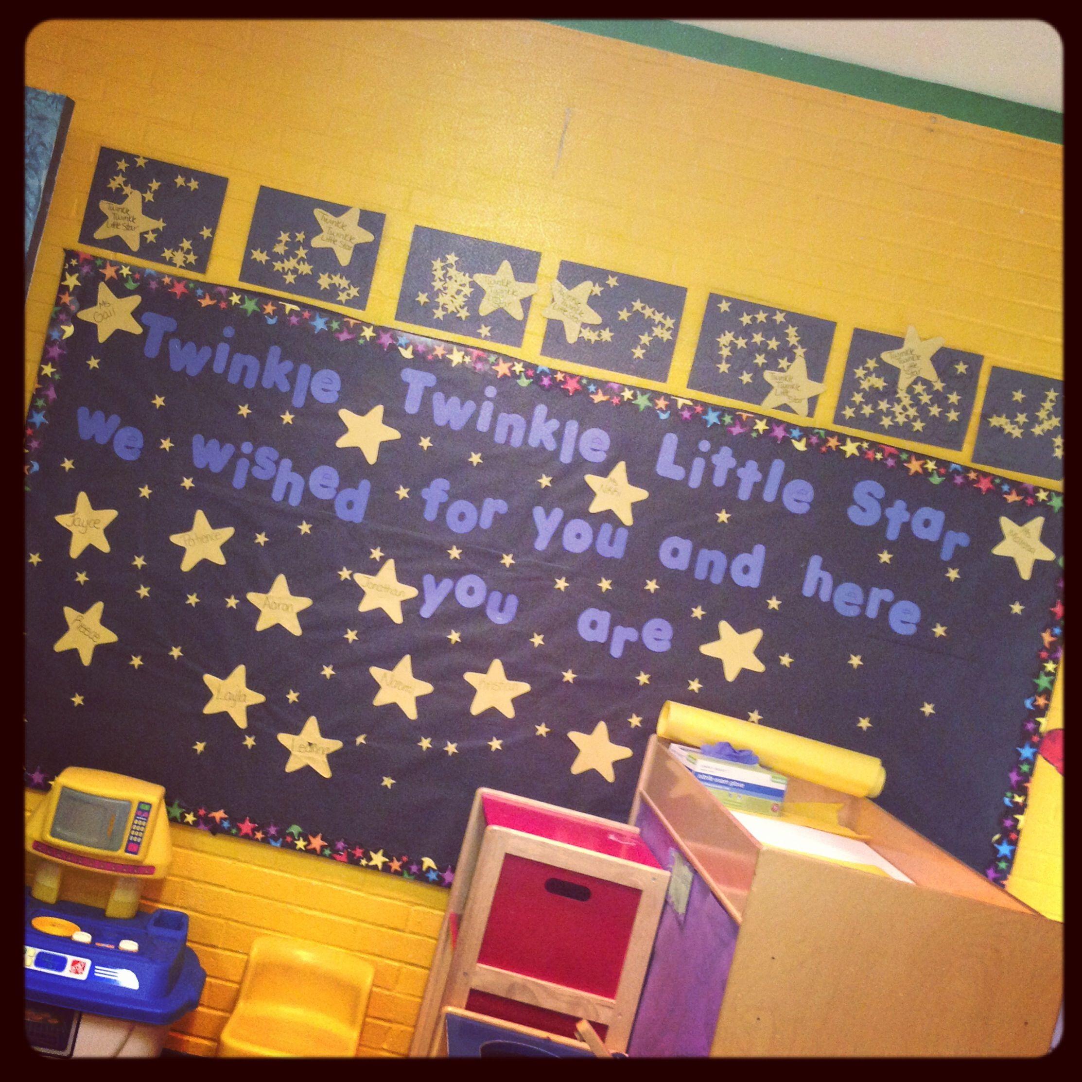 Bulletin Board Nursery Rhyme Themed Twinkle Twinkle Little