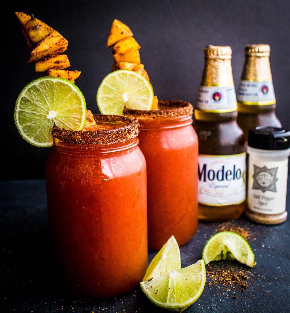 Spicy Mango Micheladas   Rezept   antojitos mexicanos   Pinterest