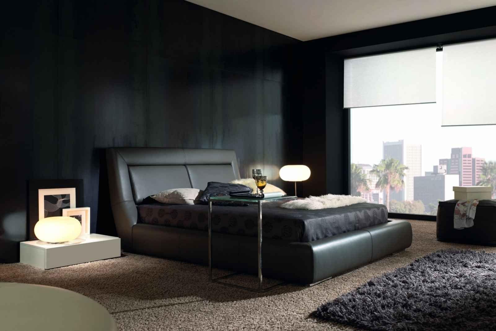 Schlafzimmer in Schwarz mit Bett Luxor - GAMAMOBEL | Schlafzimmer ...