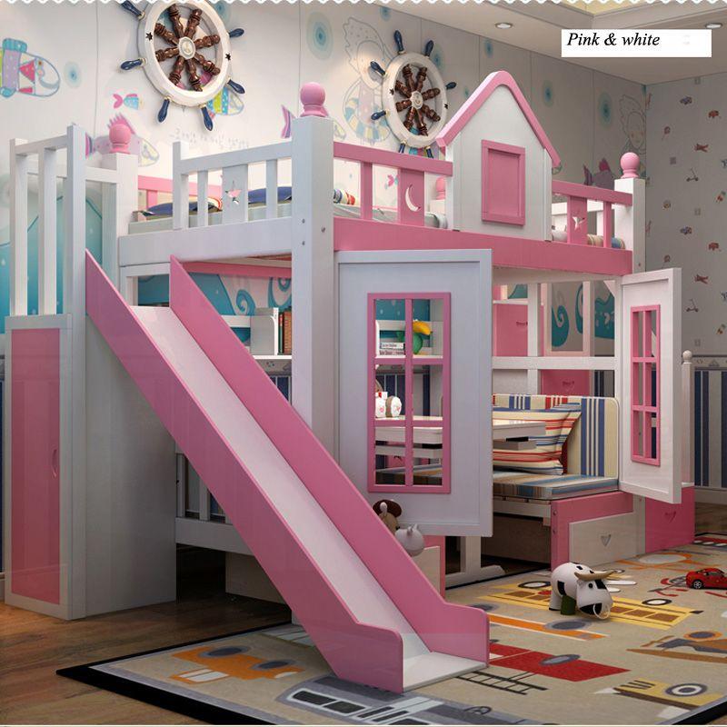 0128TB006 Moderne kinder schlafzimmer möbel prinzessin schloss mit ...