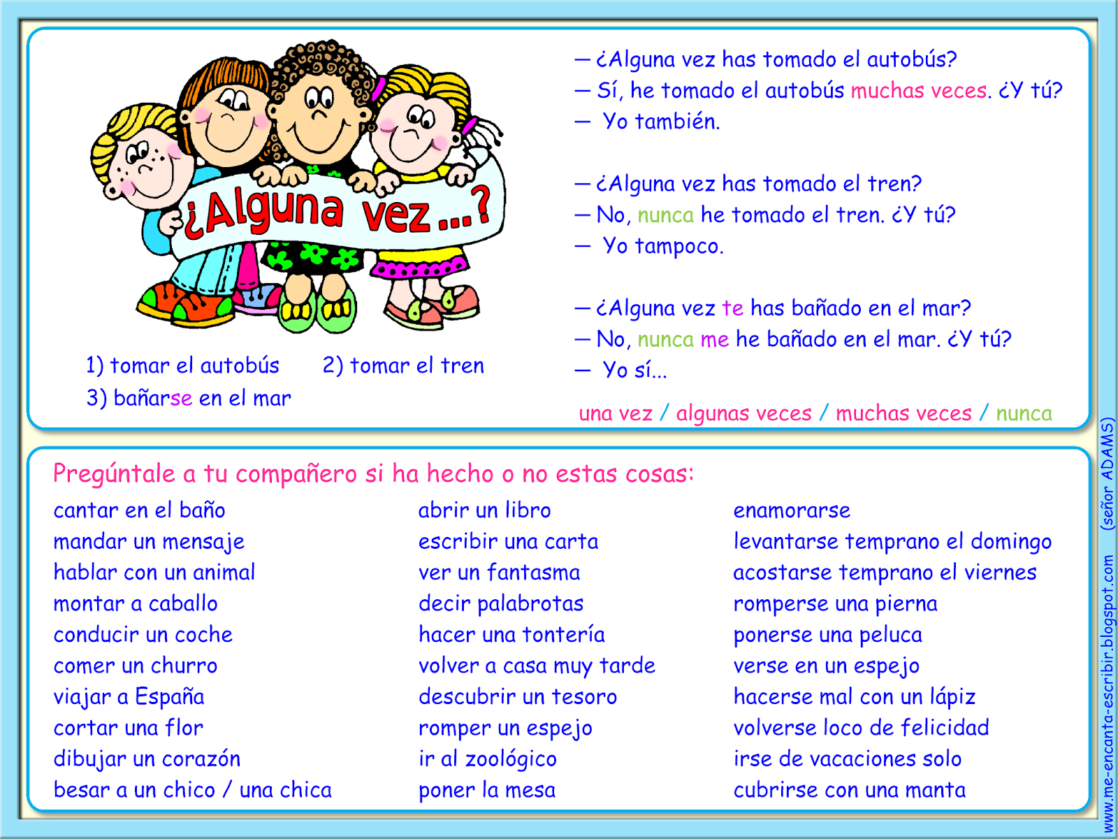 Basically A Kid Friendly Never Have I Ever In Spanish To