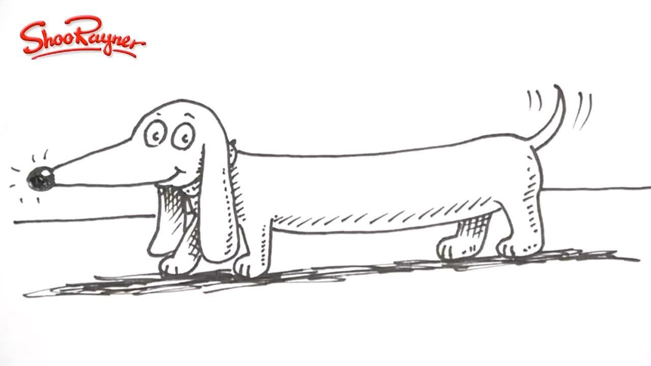 Awesome Tutorial Draw A Cartoon Dachshund The Easy Way With