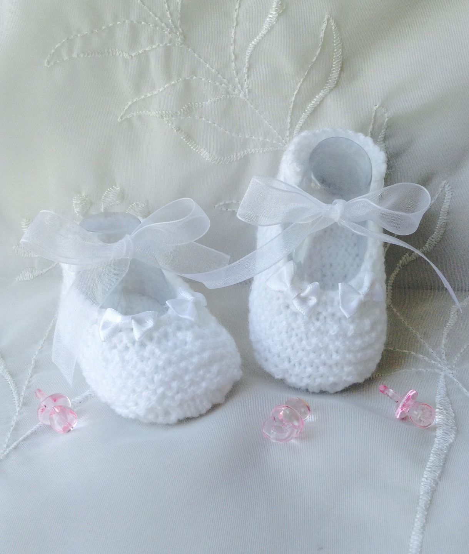nouvelle collection c15e7 5aa26 Ballerines de baptême pour bébé fille taille 3 mois, blanc ...