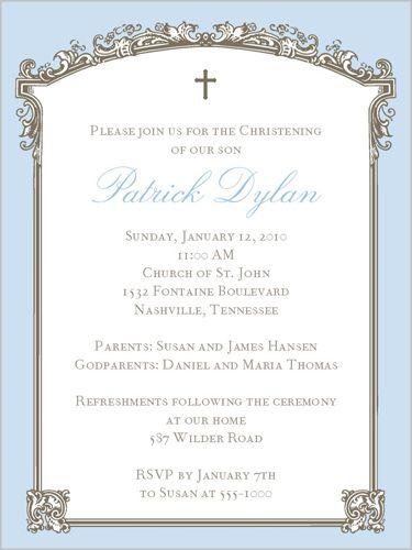 baptism trumeau blue 4x5 invitation baptism invitations the