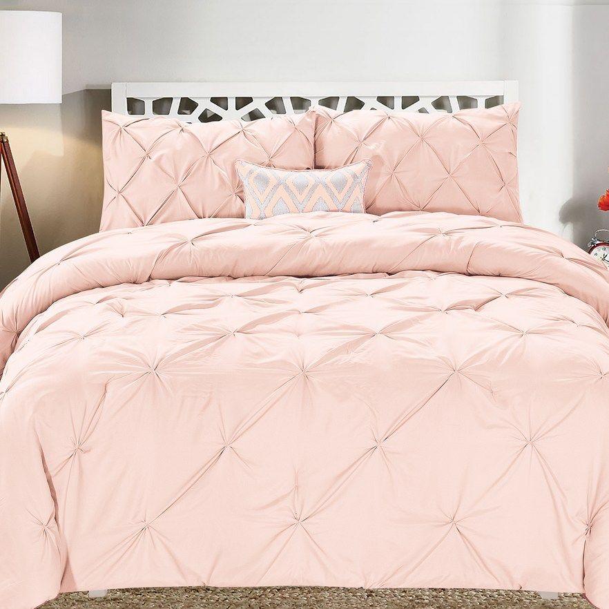 Swift Home Pintuck Comforter Set Comforter Sets Pintuck Comforter Pink Comforter