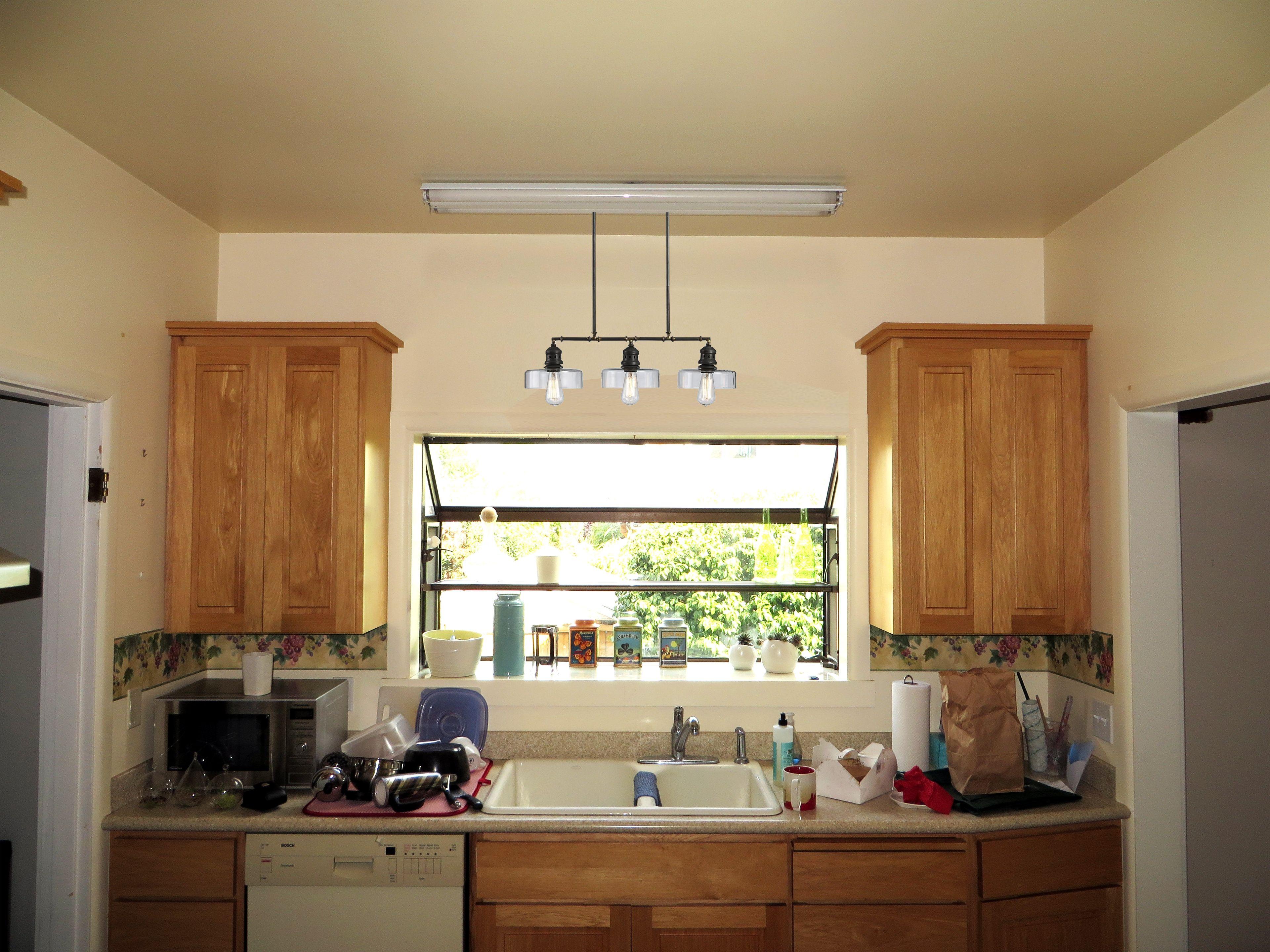 Einzigartig Über Dem Waschbecken Küche Licht Anhänger Beleuchtung Über  Küche Waschbecken Geschirr Wasser Kühler Küchen Einbauküchen Oder Nur  Untere Schränke ...
