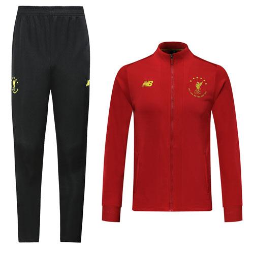 19 20 Liverpool Red High Neck Collar Training Kit Jacket Trouser Cheap Soccer Jerseys Shop In 2020 Soccer Jersey Training Kit Football Jackets