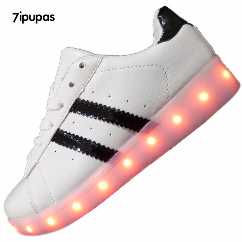 2016 빛나는 11 색 발광 스포츠 신발 남성 조명 성인을위한 라이트 업 led 신발 남녀 빛나는 USB 충전 신발