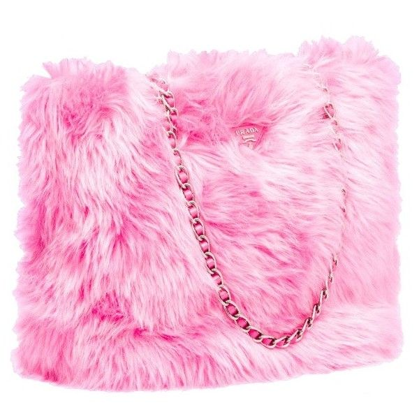 Prada fur tote ❤ liked on Polyvore featuring bags, handbags, tote bags, fur, purses, totes, pink tote bag, prada tote, pink handbags and fur purse