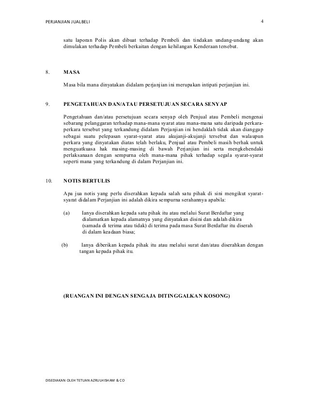 Contoh Surat Perjanjian Jual Beli Motor Vespa Surat Box Vespa Surat
