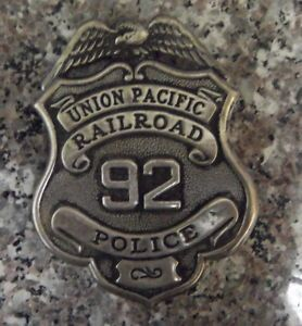 Police Badge: Union Pacific R.R Old West full shield Police Lawman