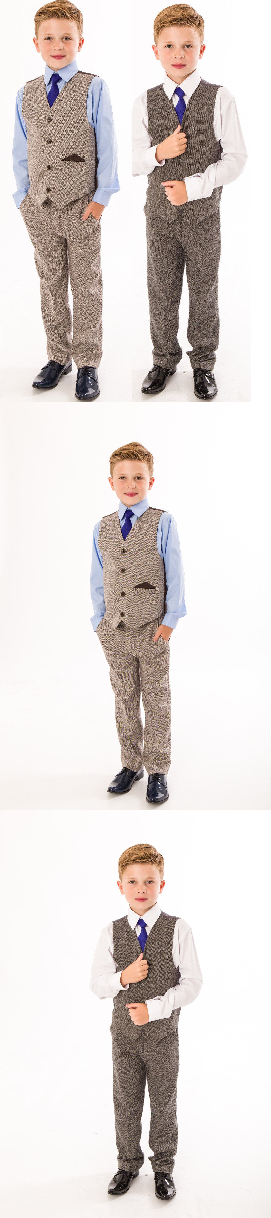 Suits 99754: Boys Suits Boys Wedding Suit Tweed Waistcoat Suit ...