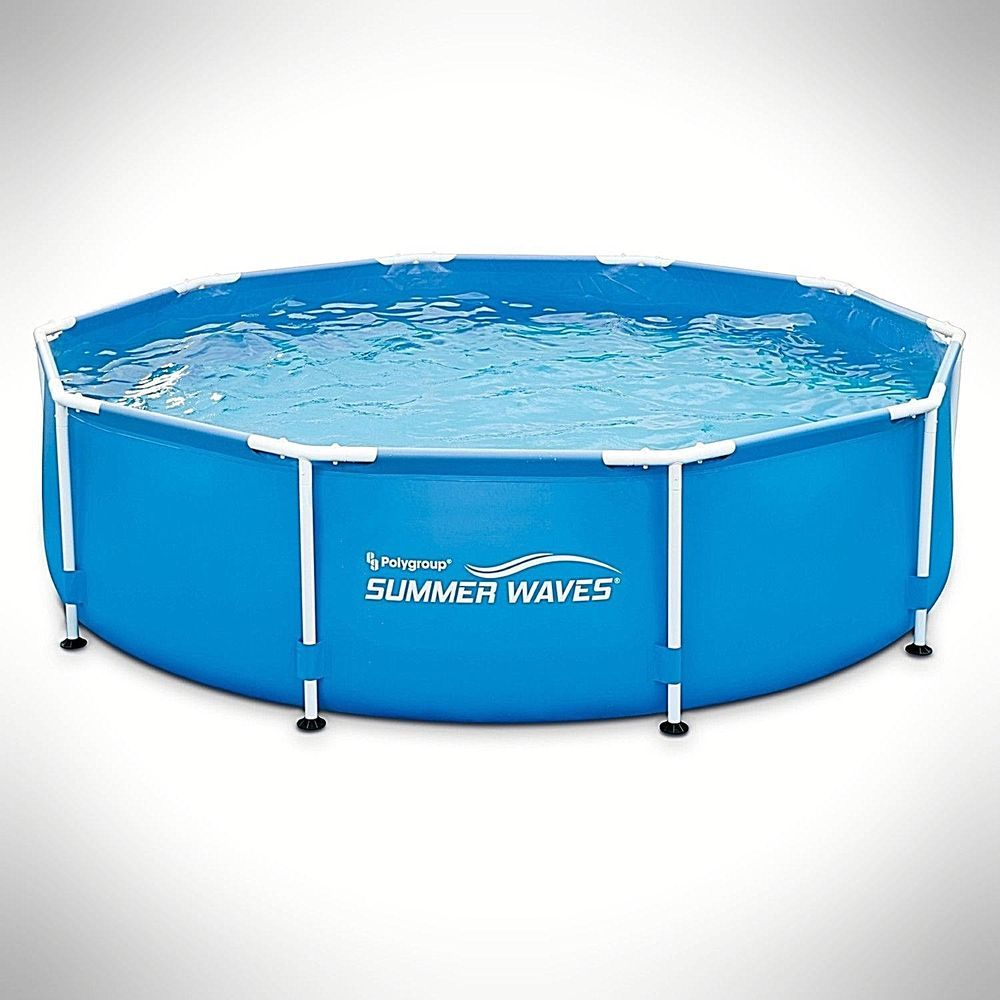 10 X 30 Metal Frame Portable Above Ground Family Swimming Pool Easy System Fun Dealstoday Summer Waves Swimming Pool Filters Swimming Pools