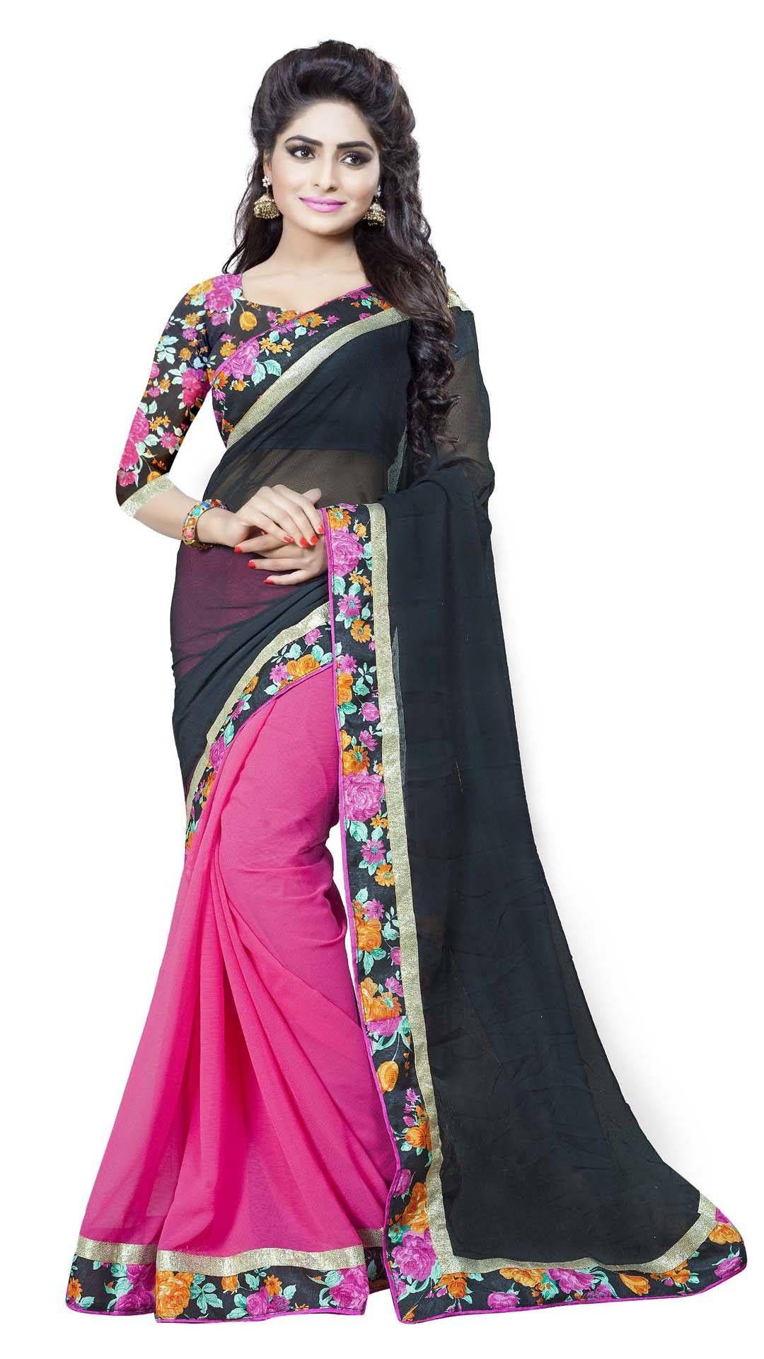 daed558b3b Buy Aai shree khodiyar art Multi Color Faux Chiffon Saree Online at Low Prices  in India - Paytm.com