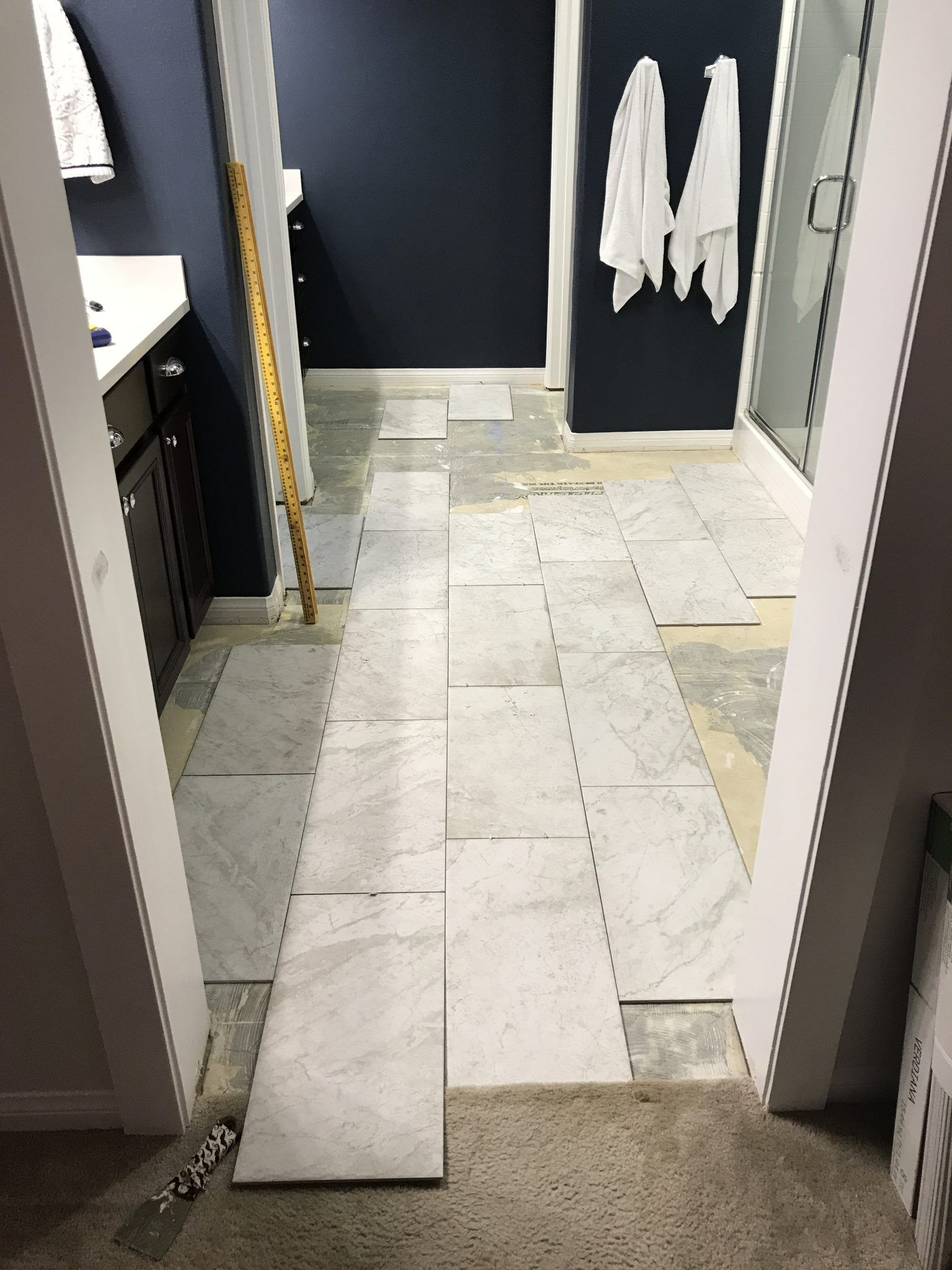 Adventures In Floor Tiling Part 1 The Prep Timber Crow Flooring Bathroom Makeover Timber