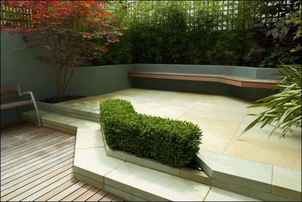 contemporary garden design - Google Search HARDSCAPING Pinterest - Terrace Design