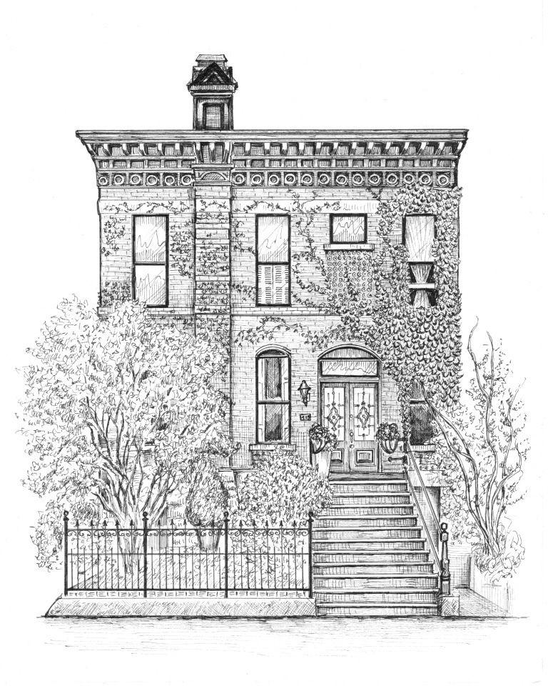 Galeria de Artista cria ilustrações detalhadas de casas e edifícios de Chicago - 3
