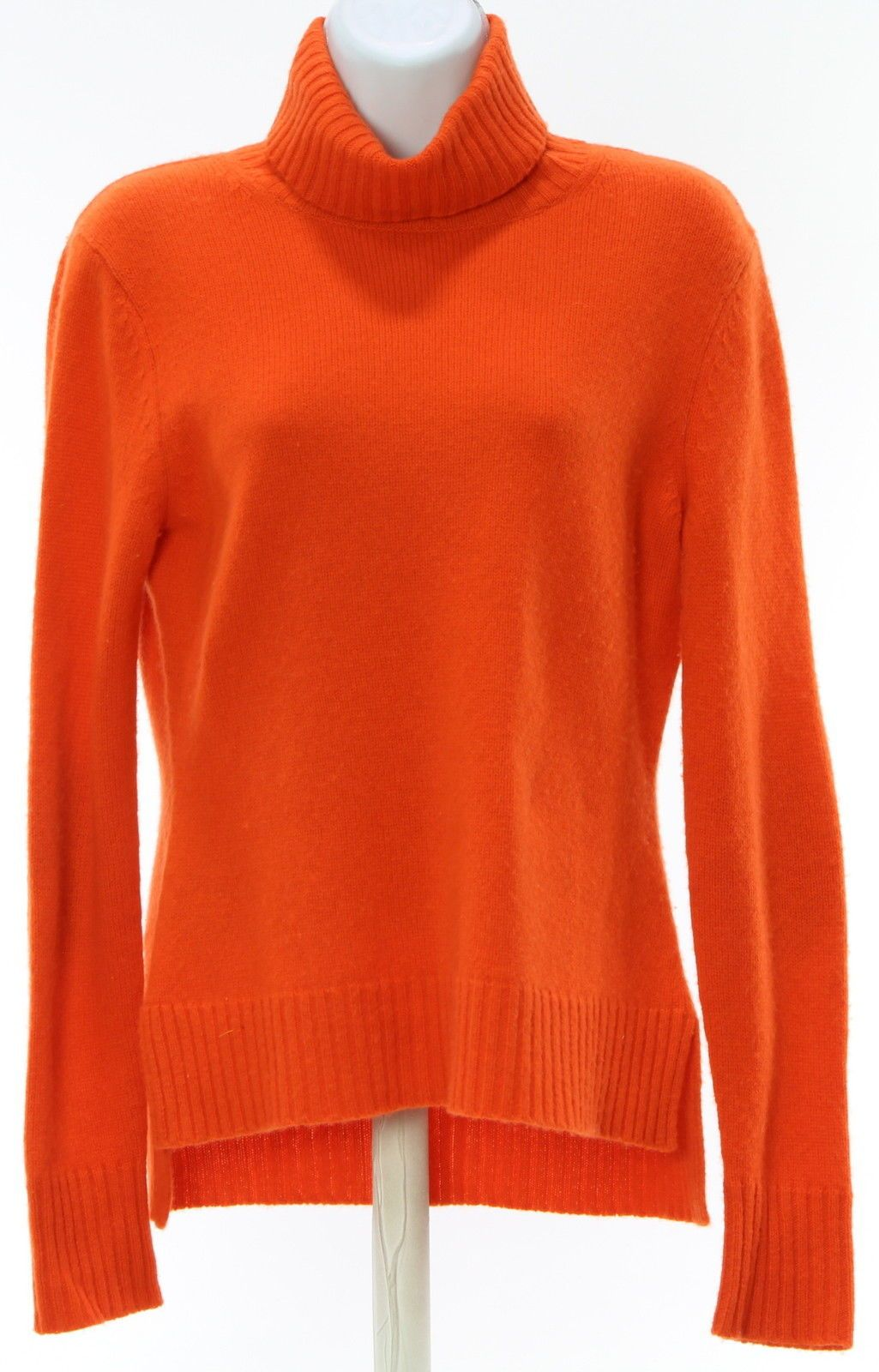 Womens NEIMAN MARCUS Orange 100% Cashmere Turtleneck Sweater Size ...