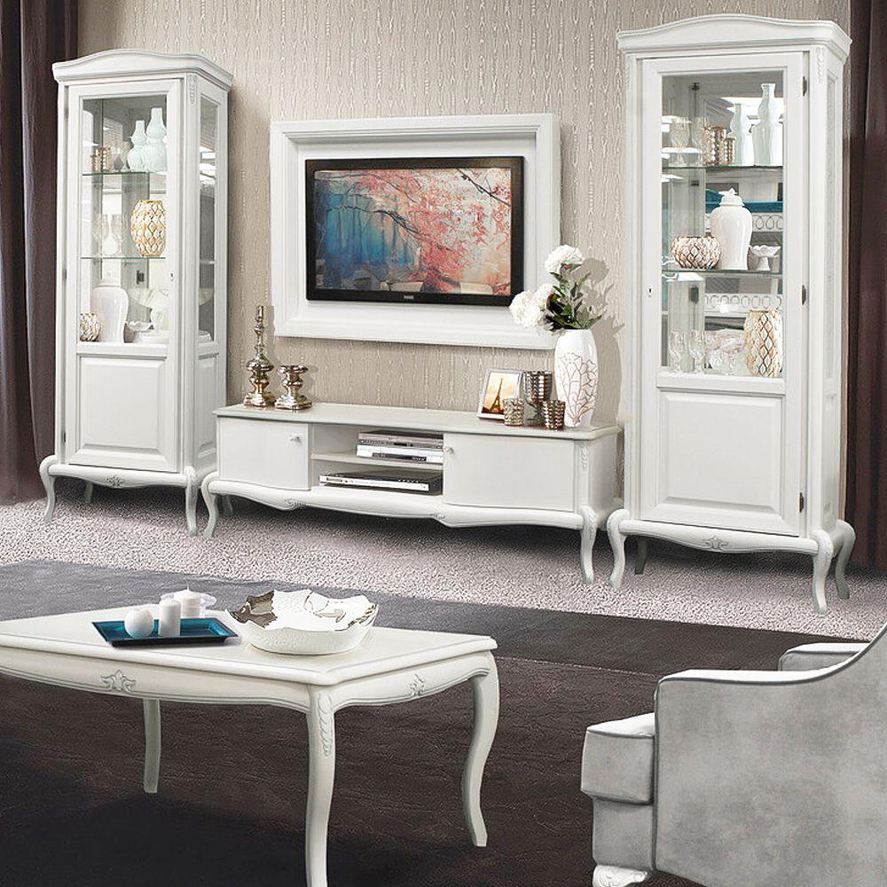 """Vintage Wohnzimmer Set """"Mokko"""" Weiß  Wohnzimmermöbel weiß, Möbel"""