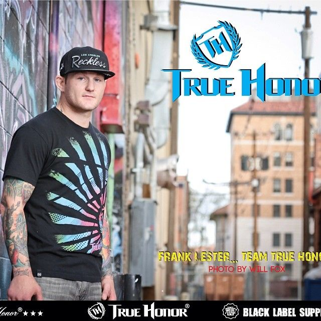 UFC Vet @thefranklester in 80's Design by @True Claycombe Honor ... Purchase this 80's design here http://www.truehonor.com/mens/80s-men-s-t