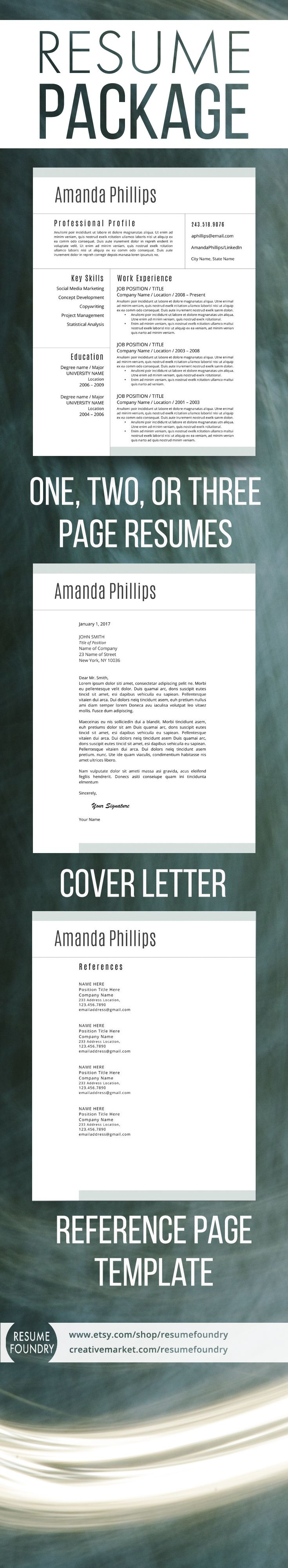 How To Start A Resume Letter Modern Resume Template For Word 13 Page Resume  Cover Letter  .