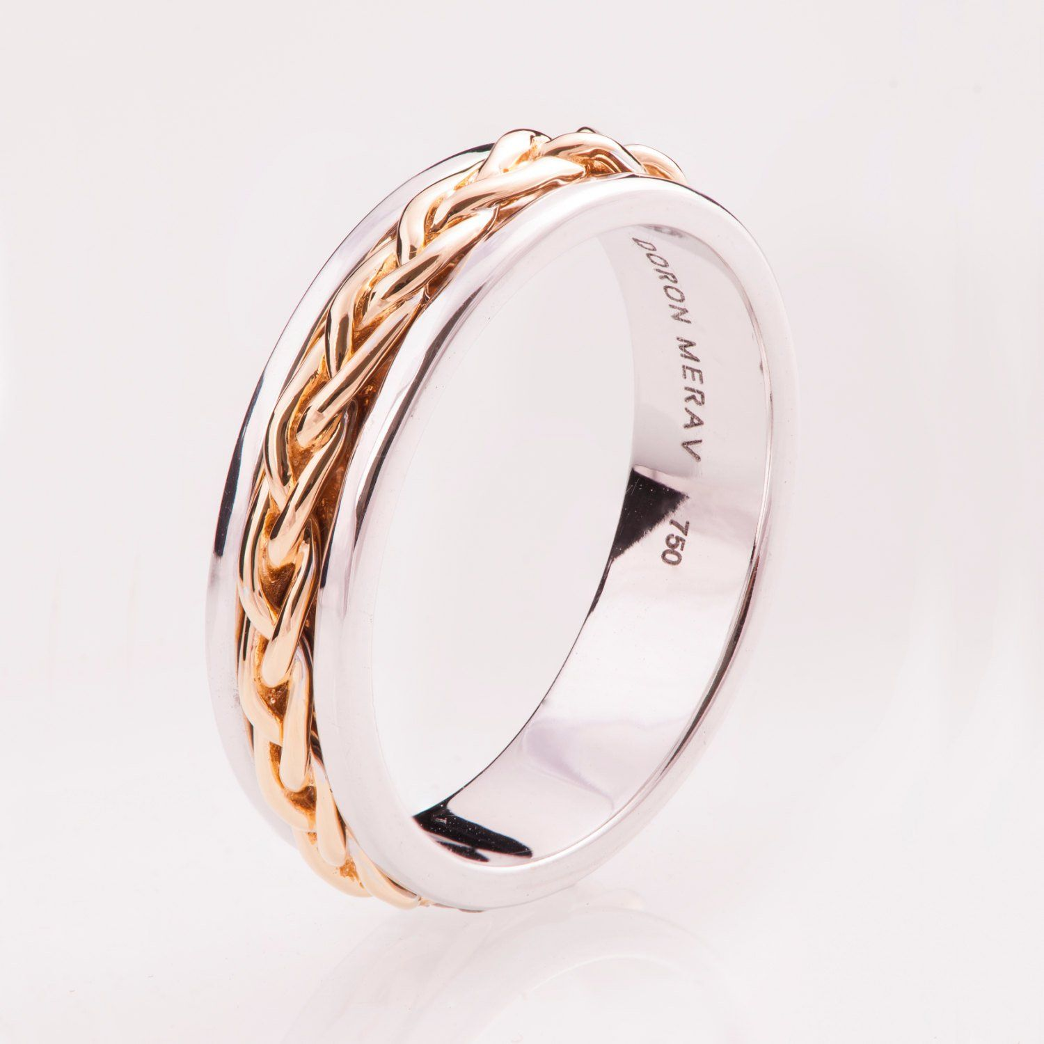 Braided Ring No.9, 14K Gold Ring , Wedding Band , Two Tone