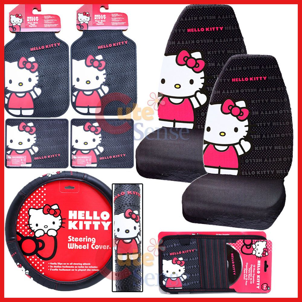 Hello Kitty Car Seat Cover Accessories Set