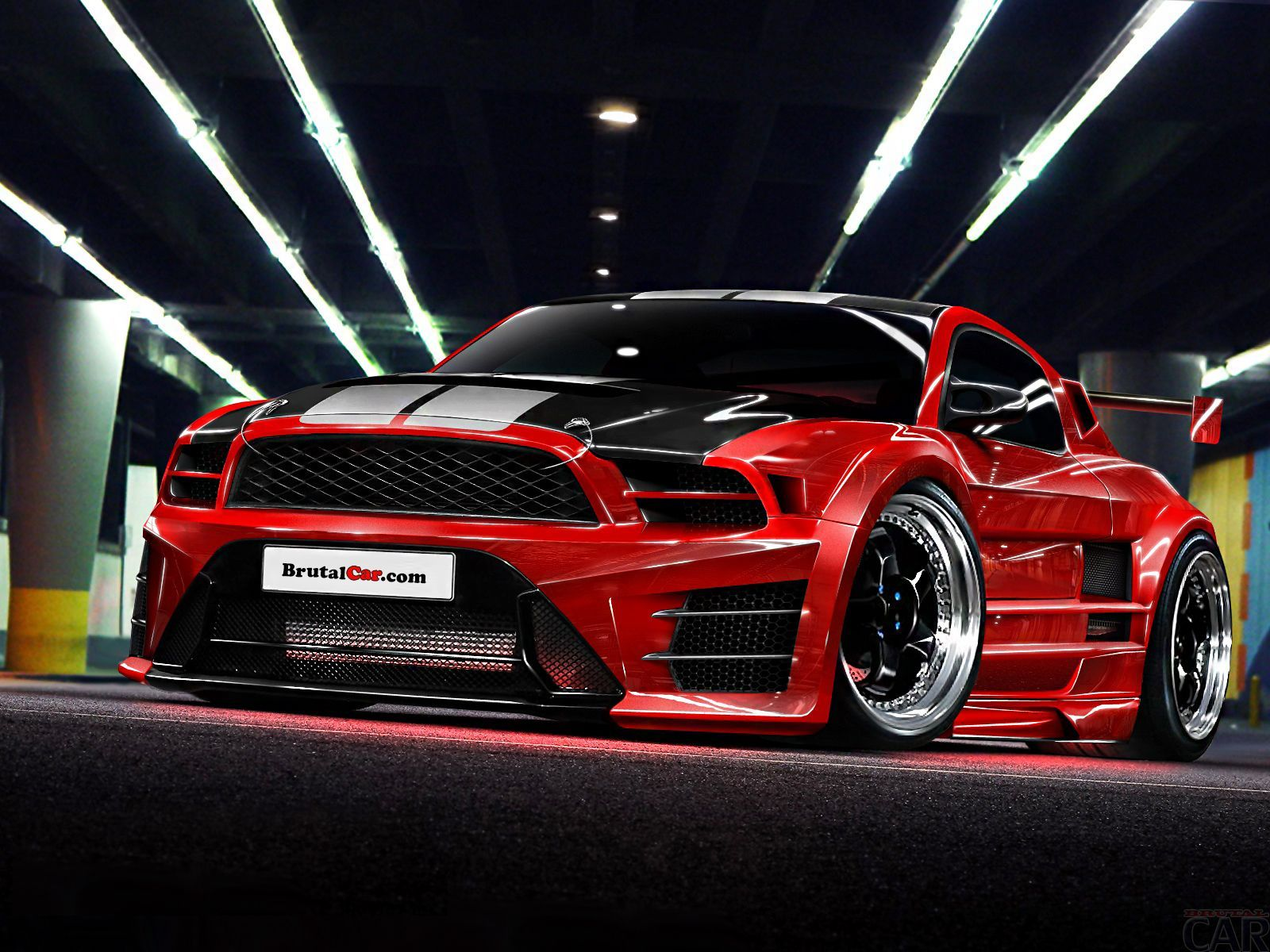 Mustang custom red ford mustang looks so fantastic