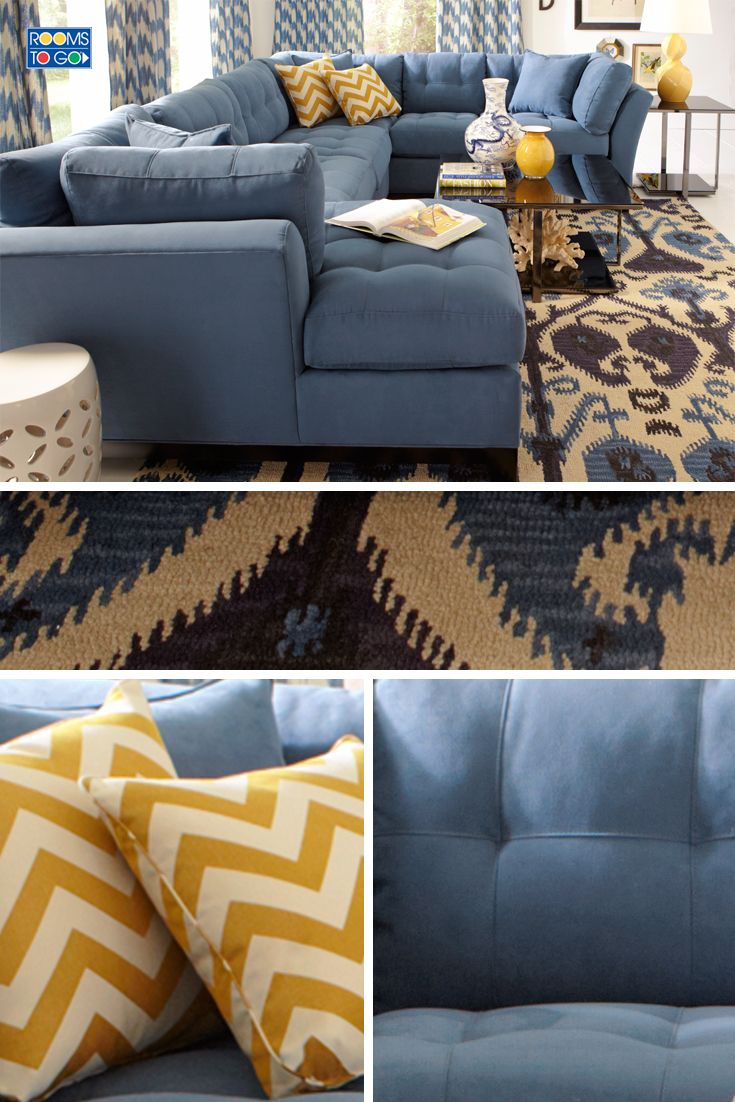 Cindy Crawford Home Metropolis Indigo 3 Pc Sectional   Sectionals (Blue) is part of Home - Cindy Crawford Home Metropolis Indigo 3 Pc Sectional  1999 99  3Pc Set includes  Sofa, Loveseat, Chaise & Pillows 148W x 106D x 39H, Chaise 67D  Find affordable Sectionals for your home that will complement the rest of your furniture
