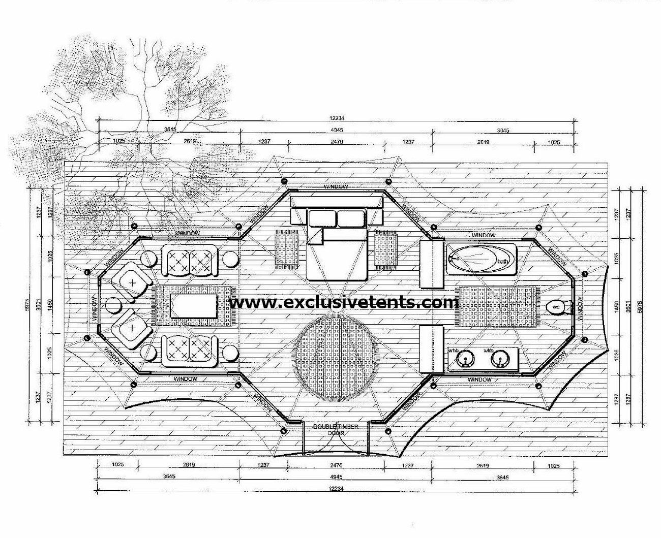 tree house floor plan tree house floor plans google search plan - House Plans With Tree