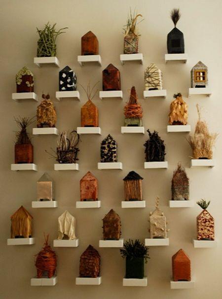 ideen f r wandgestaltung coole wanddeko selber machen house shaped art sculptures. Black Bedroom Furniture Sets. Home Design Ideas