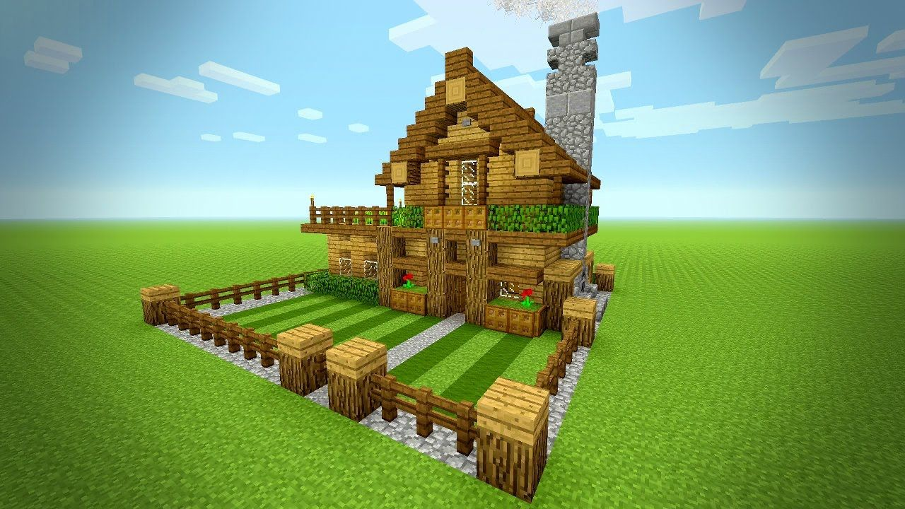 Minecraft how to build a small survival house tutorial rustic house