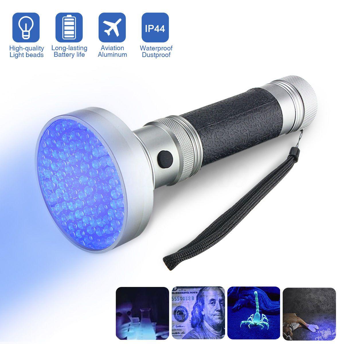 NEW 100 LED UV Ultra Violet Blacklight Flashlight Lamp Torch Inspection Light