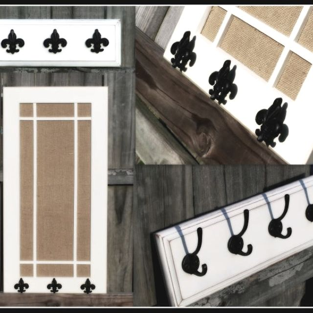 Custom Pin Board Coat Racks Made From Upcycled Cabinet Door And