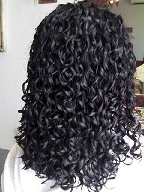 Long Hair Curly Spiral Perm Long Hair Styles Long Hair Perm Spiral Perm Long Hair