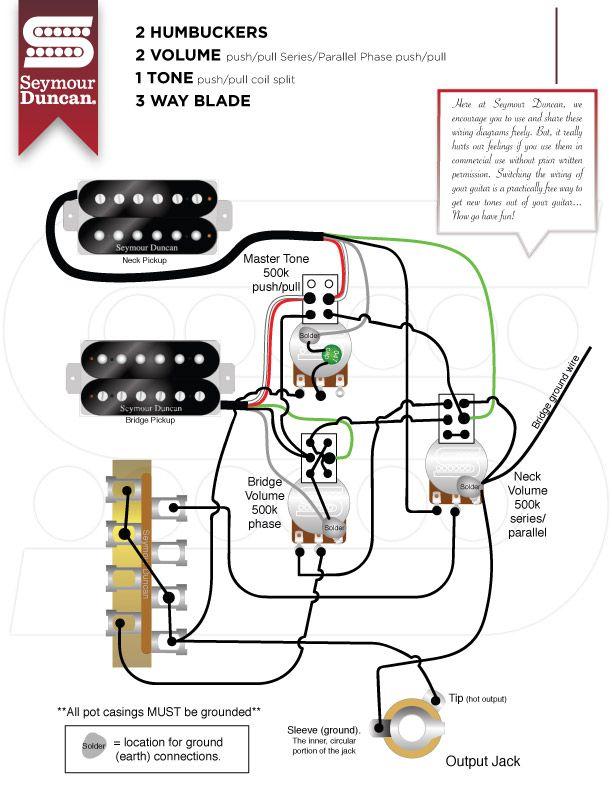 Wiring Diagrams Seymour Duncan Seymour Duncan In 2020 Guitar Pickups Guitar Building Seymour Duncan