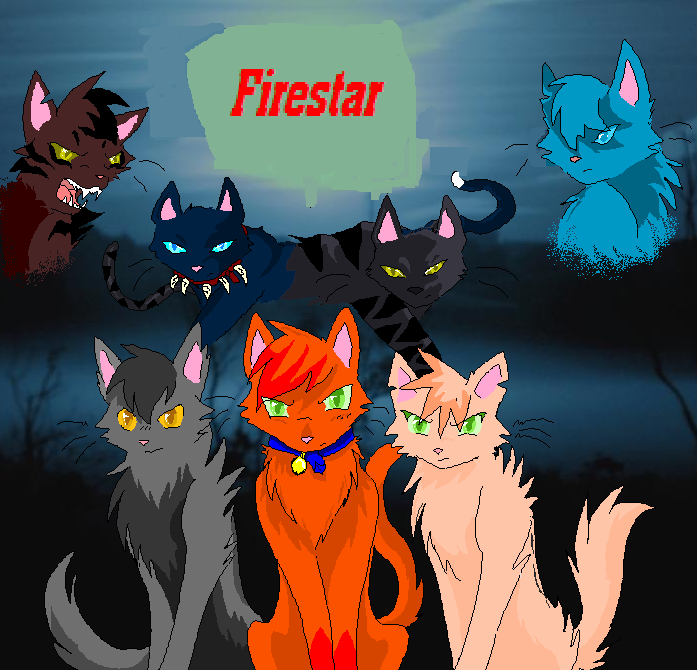 In this order top Tigerstar, Scourge, Darkstripe, and