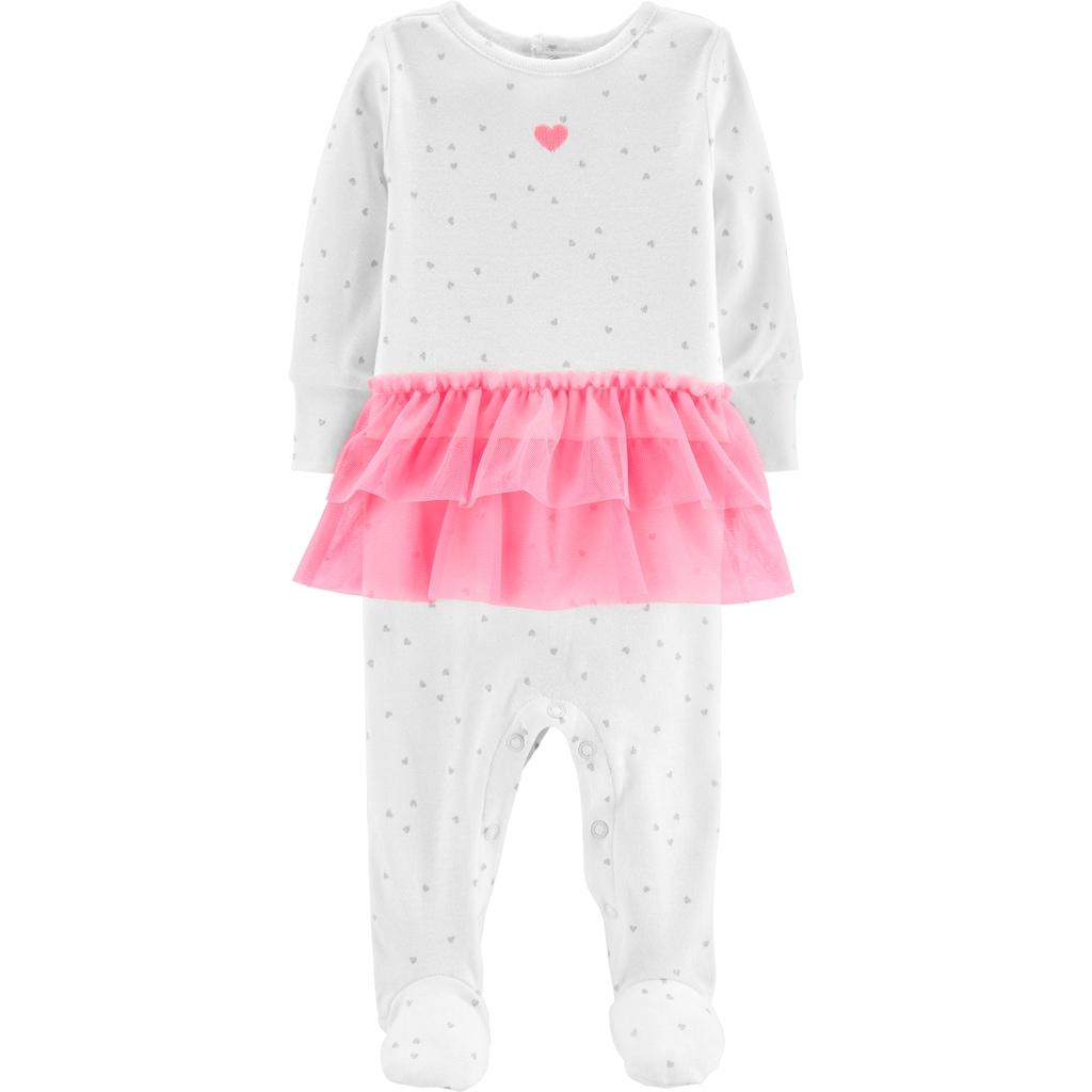 13c1268b Baby Girl Carter's Glittery Heart Tutu Sleep & Play, Size: 3 Months ...