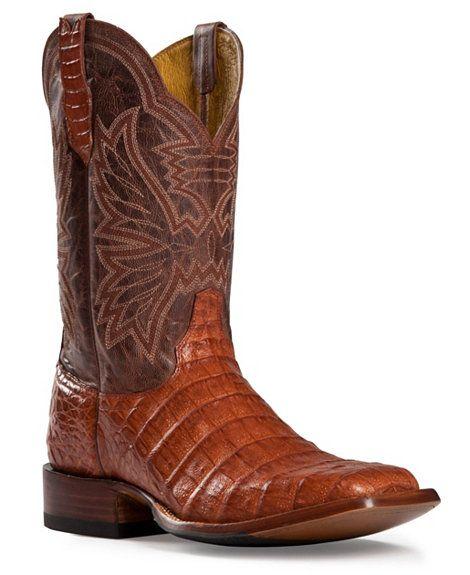 71b5feb911c Cinch Classic Cognac Caiman Belly Mad Dog Cowboy Boots - Square Toe ...