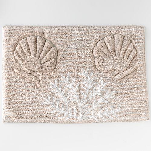 Bacova Captiva Shell Bath Rug Complete Your Bathroom Decor - Multi colored bath rugs for bathroom decorating ideas